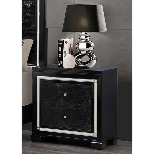 Galaxy Black Metallic Nightstand