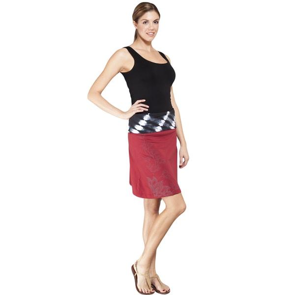 Organic Lotus Tie-Dye Waistband A-line Skirt (Nepal)