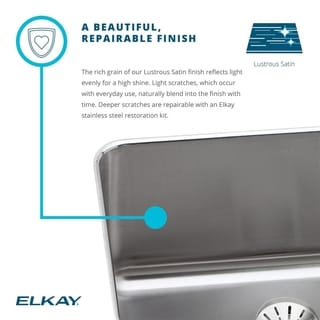 Elkay 18-gauge Stainless Steel Single Bowl Undermount Bathroom Sink