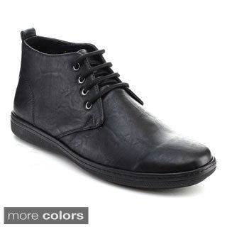 Alessio M887H Men's Ankle High Chukka Lace Up Oxfords