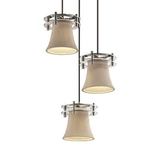 Justice Design Group Limoges Circa 3-Light Cluster Pendant, Chrome