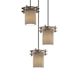 Justice Design Group Limoges Circa 3-Light Cluster Pendant, Nickel