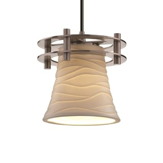 Justice Design Group Limoges Circa 1-Light Small Pendant, Nickel