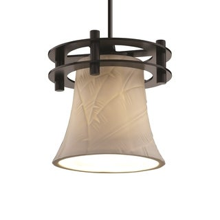 Justice Design Group Limoges Circa 1-Light Small Pendant, Black