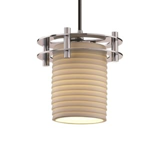Justice Design Group Limoges Circa 1-Light Small Pendant, Chrome