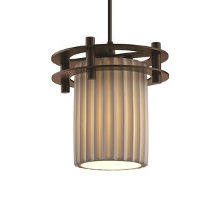 Justice Design Group Limoges Circa 1-Light Small Pendant, Bronze