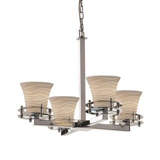 Justice Design Group Limoges Circa 4-Light Chandelier, Chrome