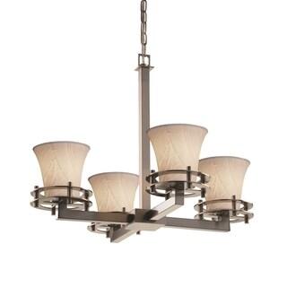 Justice Design Group Limoges Circa 4-Light Chandelier, Nickel