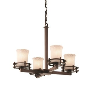 Justice Design Group Veneto Luce 4-Light Chandelier, Bronze