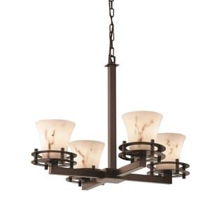 Justice Design Group LumenAria Circa 4-Light Chandelier, Bronze