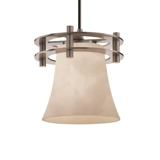 Justice Design Group Clouds Circa 1-Light Small Pendant, Nickel