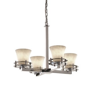 Justice Design Group Clouds Circa 4-Light Chandelier, Chrome
