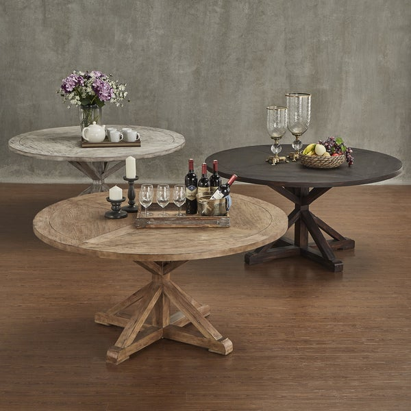 Rustic Round Kitchen Table: SIGNAL HILLS Benchwright Rustic X-base 60-inch Round