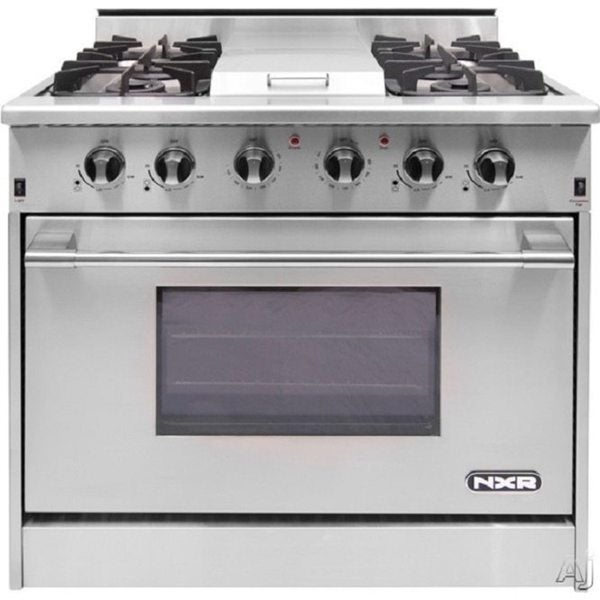 NXR Professional Gas Range 36-inch 4 Burners with Griddle 15219741