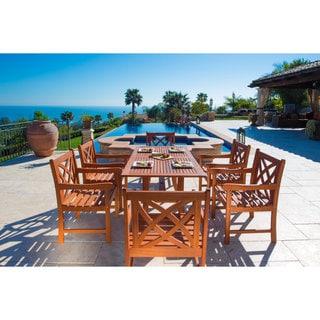Malibu Eco-Friendly 7-Piece Wood Outdoor Dining Set V189SET2