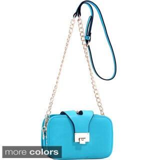 Dasein Mini Gold-Tone Chain Strap Crossbody Bag