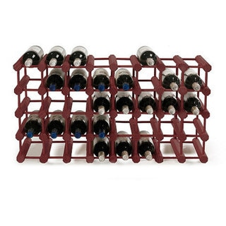 Wine Enthusiast Mahogany Modular 40-Bottle Pine Wine Rack