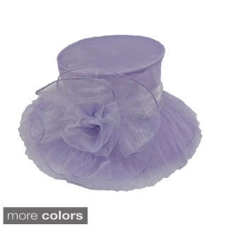 Women's Organza Fabric Packable Hat