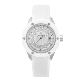Giorgio Milano Sporty White Rubber Watch with Ceramic Bezel