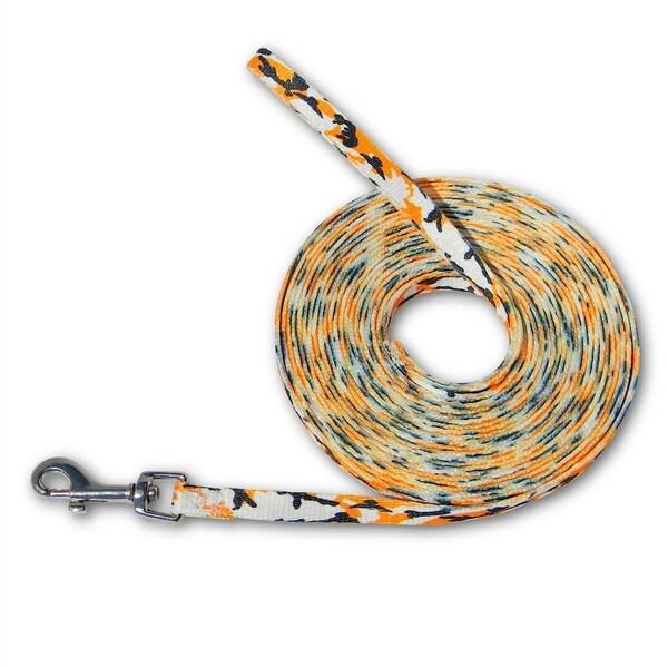Laso Classic 20-foot Orange Camo Leash