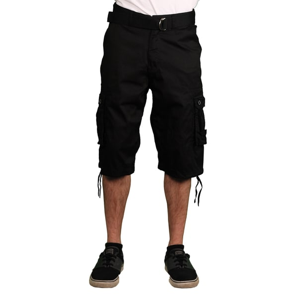 Gray Earth Men's Belted Cargo Shorts