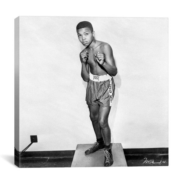iCanvas 12 Year Old Cassius Clay (Muhammad Ali) Canvas Print Wall Art