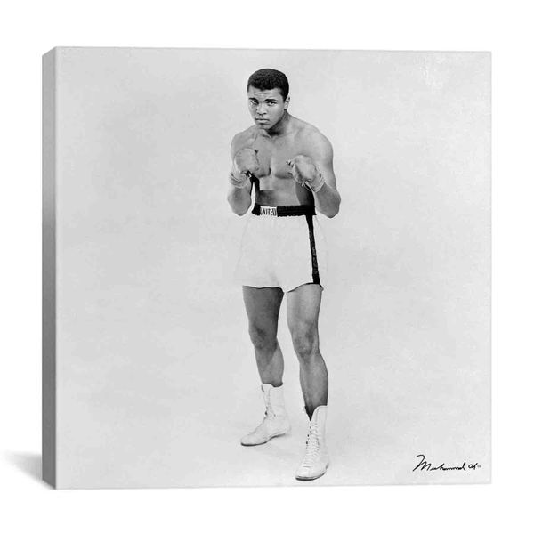 iCanvas Heavyweight Boxer Muhammad Ali Canvas Print Wall Art