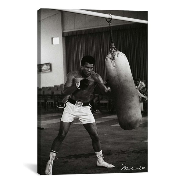 iCanvas Ali Training in Zaire Canvas Print Wall Art