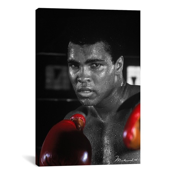 iCanvas Muhammad Ali in Training Canvas Print Wall Art