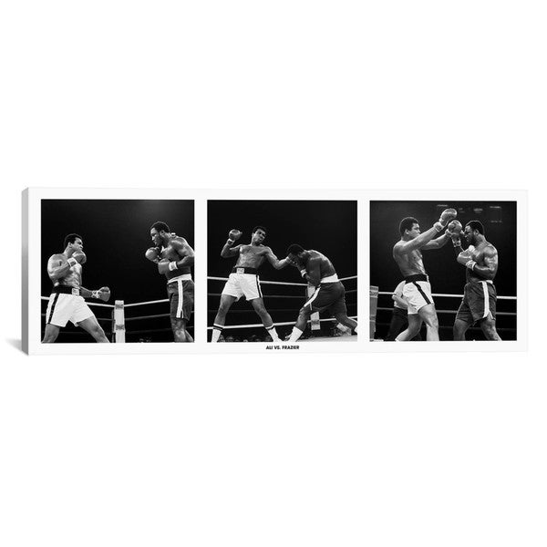 iCanvas Muhammad Ali Vs. Frazier Canvas Print Wall Art