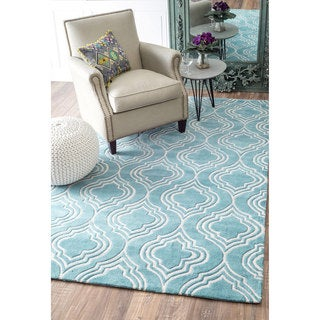 nuLOOM Handmade Modern Fancy Trellis Rug (7'6 x 9'6)