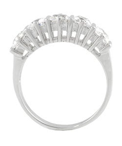 Tressa Sterling Silver Five Princess-cut CZ Ring