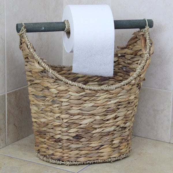 Rustic Toilet Paper Holder Magazine Basket 17207819