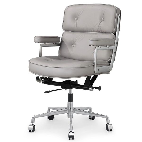 cinque office chair in grey italian leather 17207840