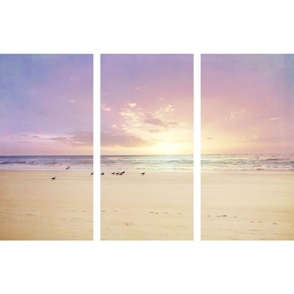 Marmont Hill 'The Beach Is My Happy Place Triptych' Canvas Art