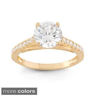 10k Gold 3 1/2ct TGW Round-cut Cubic Zirconia Ring