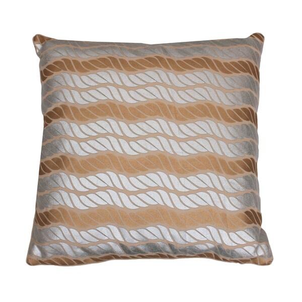Metallic Coastal Rope Pillow