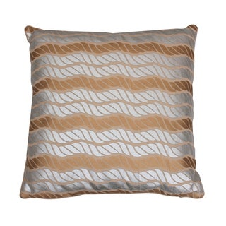 Metallic Coastal Rope Pillow