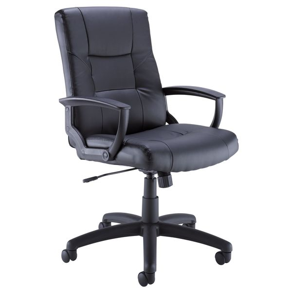 Bush Black Leather Managers Chair