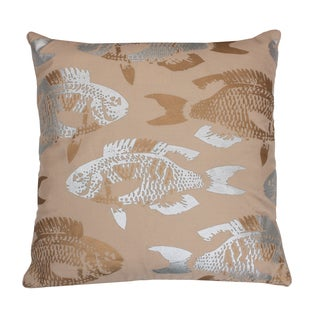 Metallic Coastal Fish Pillow