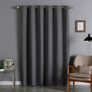 Lights Out Wide-width Thermal Insulated 84-inch Blackout Curtain Pair