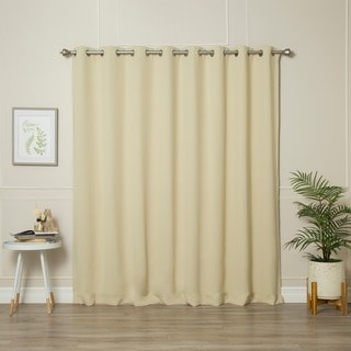Lights Out Extra WidthThermal Insulated 84-inch Blackout Curtain Pair