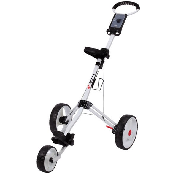 Hotz 3.0 White 3-Wheel Golf Push Cart