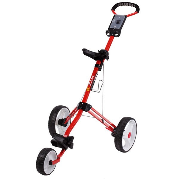 Hotz 3.0 Red 3-Wheel Golf Push Cart