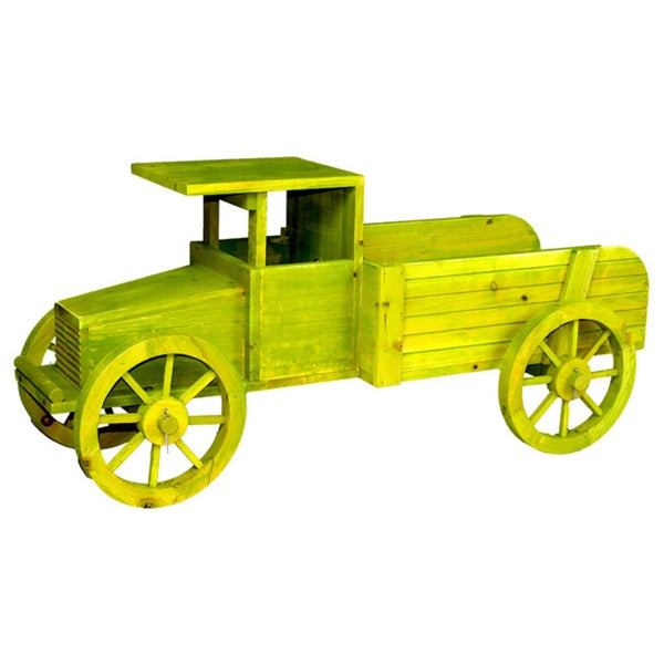Old Wooden Car Garden Planter