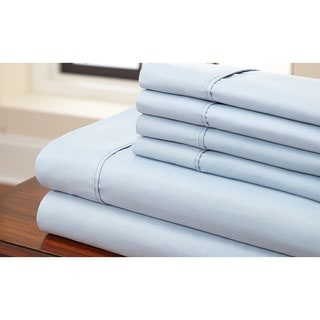 Hotel Collection 6pc Solid Luxurious Microfiber Sheet Set