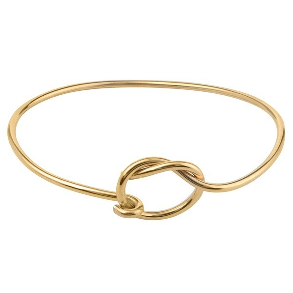 Journee Collection Sterling Silver Love Knot Bangle