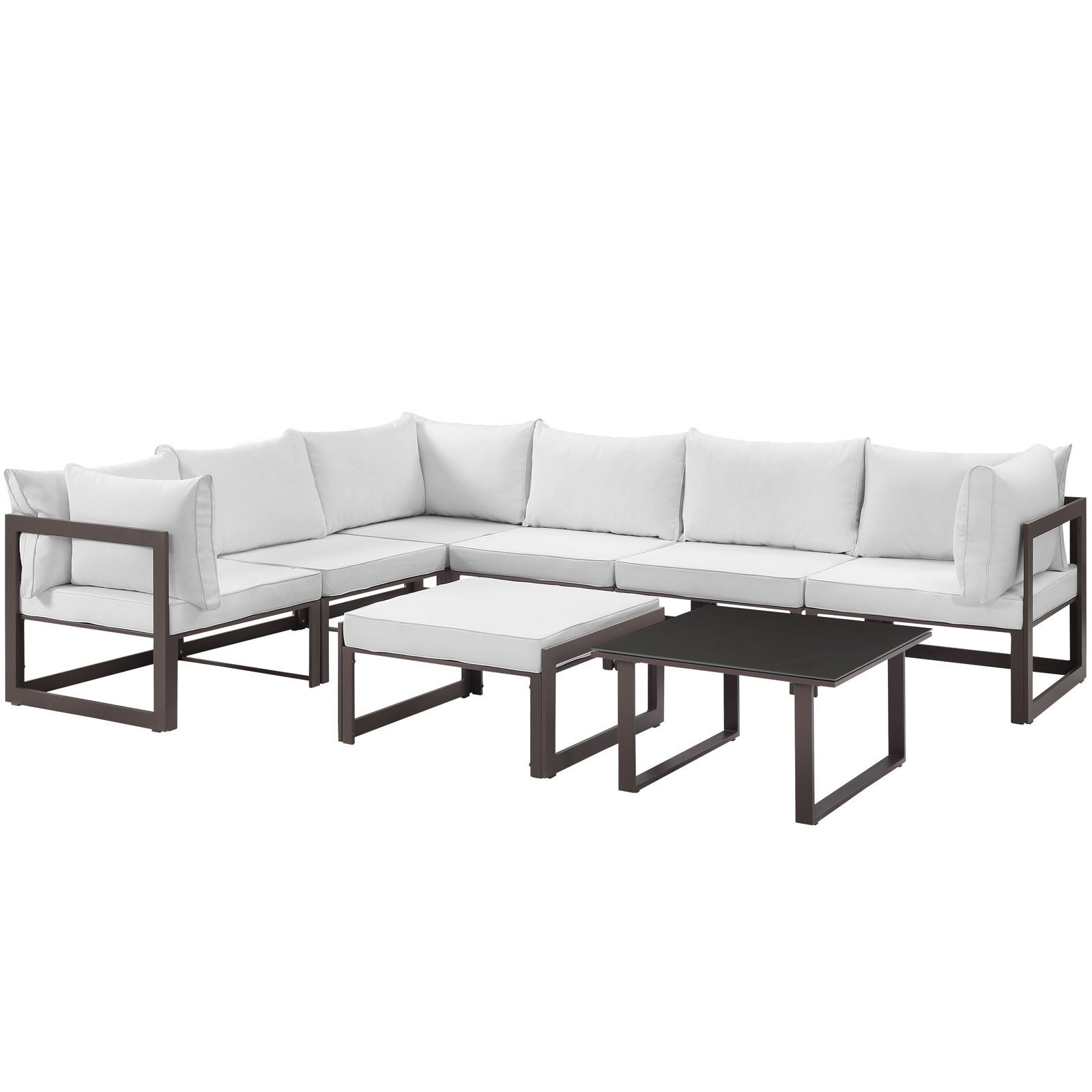 Chance 8 piece Outdoor Patio Sectional Sofa Set