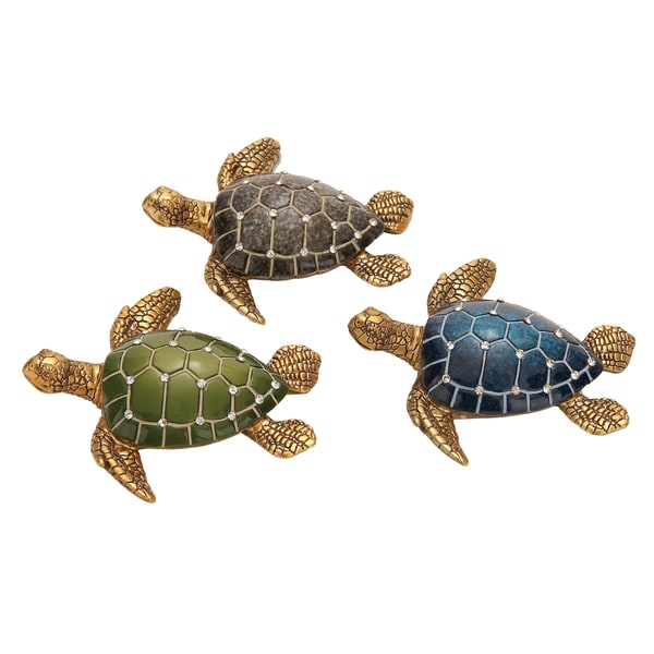 Table Top Polystone Turtle Sculpture (Set of 3) 15228003