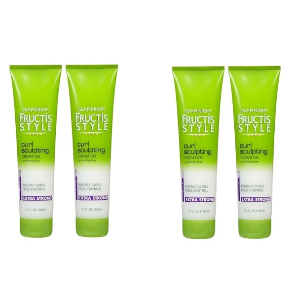 Garnier Fructis Style Curl Sculpting 5-ounce Extra Strong Hold Gel (Pack of 4)